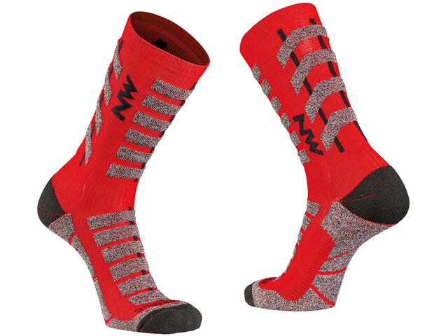 Northwave Husky Ceramic Tech Chaussettes Hautes Homme, red/black